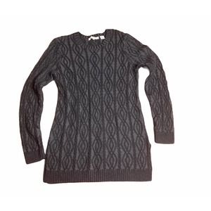 eight eight eight black textured sweater Med.